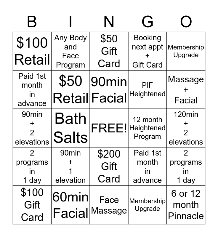 Let's Play Bingo!!! Bingo Card