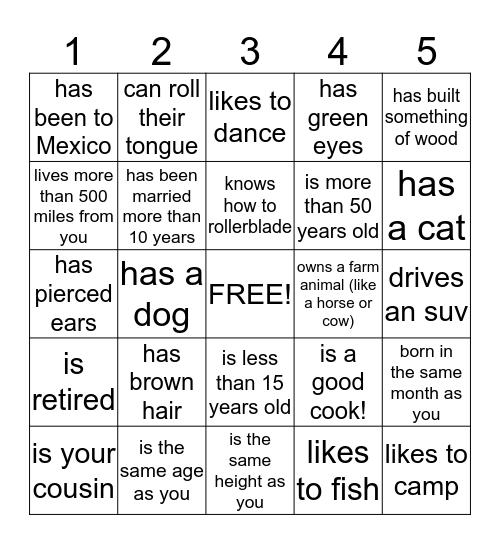 PARKHURST BINGO TRIVIA Bingo Card
