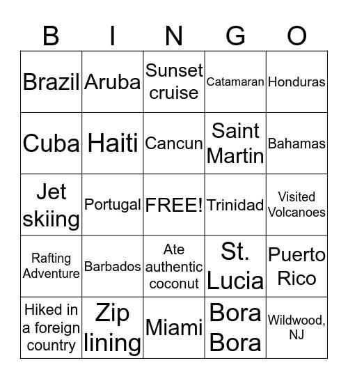 WPU Tropical Social Bingo Card