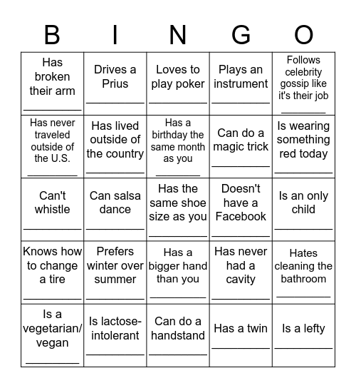 VCRC Anniversary Bingo ☺ Bingo Card