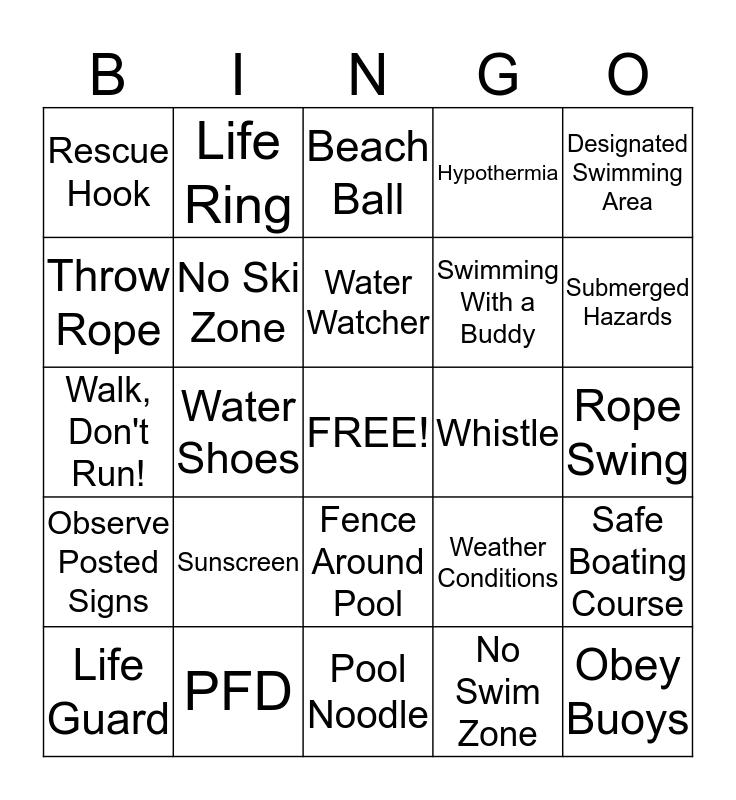 Safety Bingo