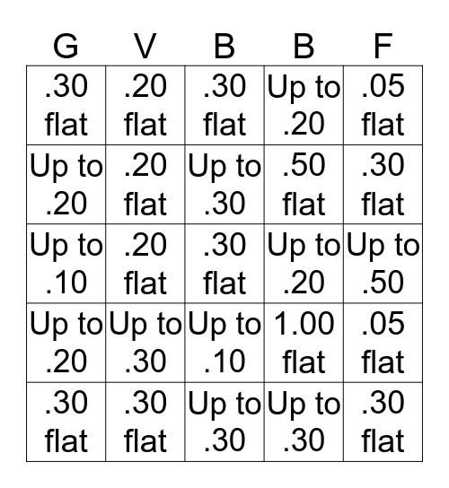 Compulsory Bingo Card