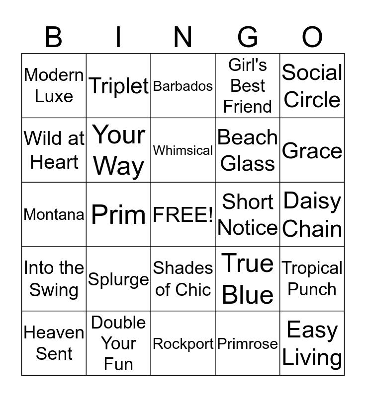 Blingo Bingo Card
