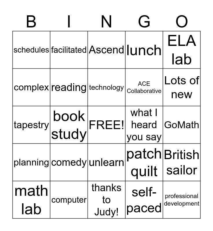 Welcome to the Best School Ever Bingo Card
