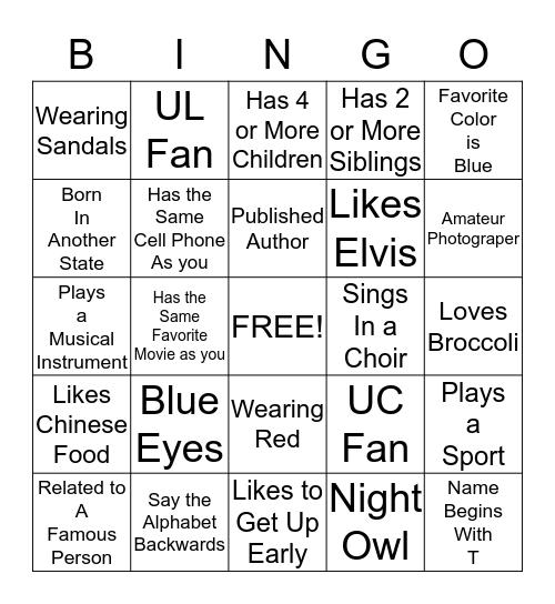 Ice Breaker Bingo Card