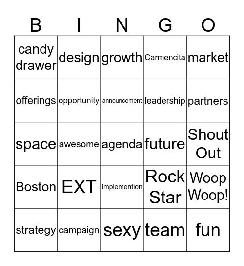 Continuum Challenge Bingo Card