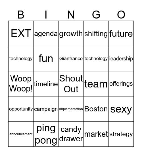 Continuum Bingo Card