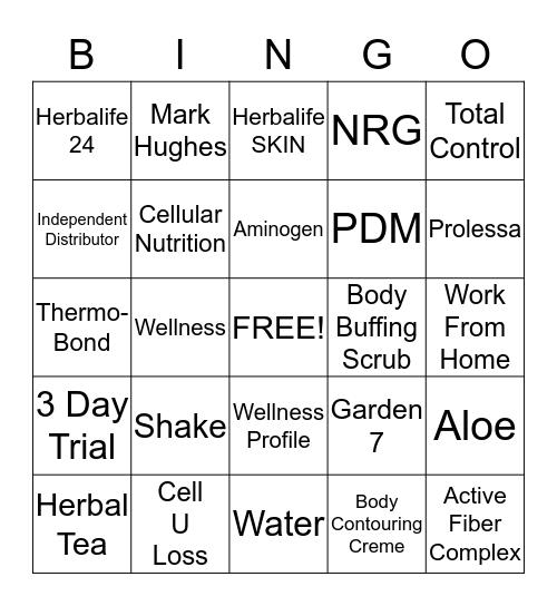 HERBA-BINGO Card