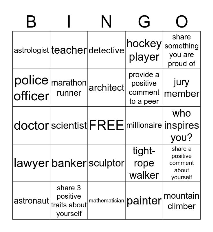 I am... Bingo Card