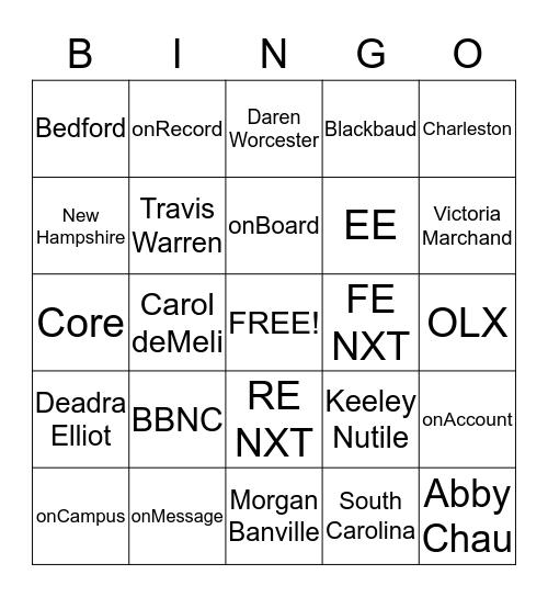 Professional Services Bingo Card