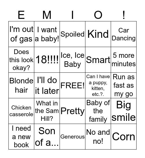 Birthday Bingo! Bingo Card