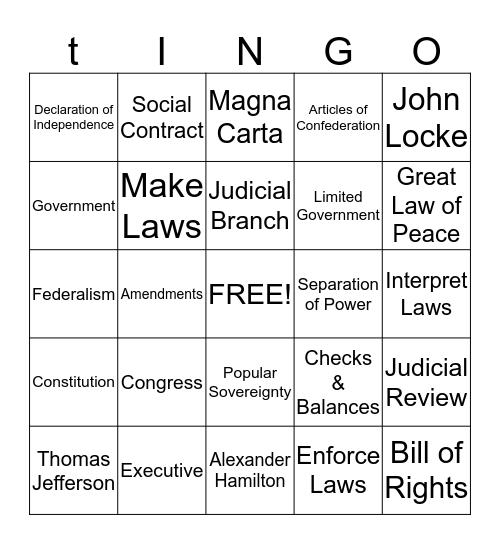 Test Card Bingo Card