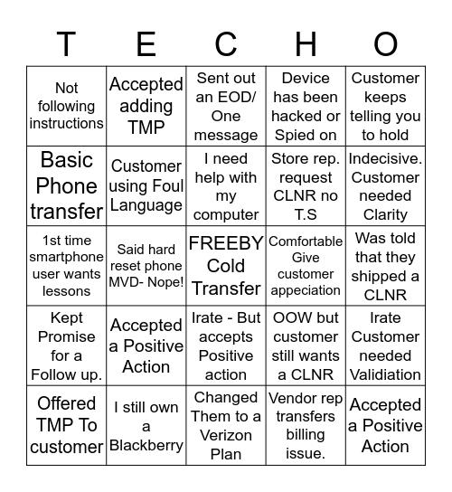 We dont make this stuff up! Bingo Card
