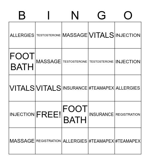 """FALL BACK INTO HEALTH""  Bingo Card"