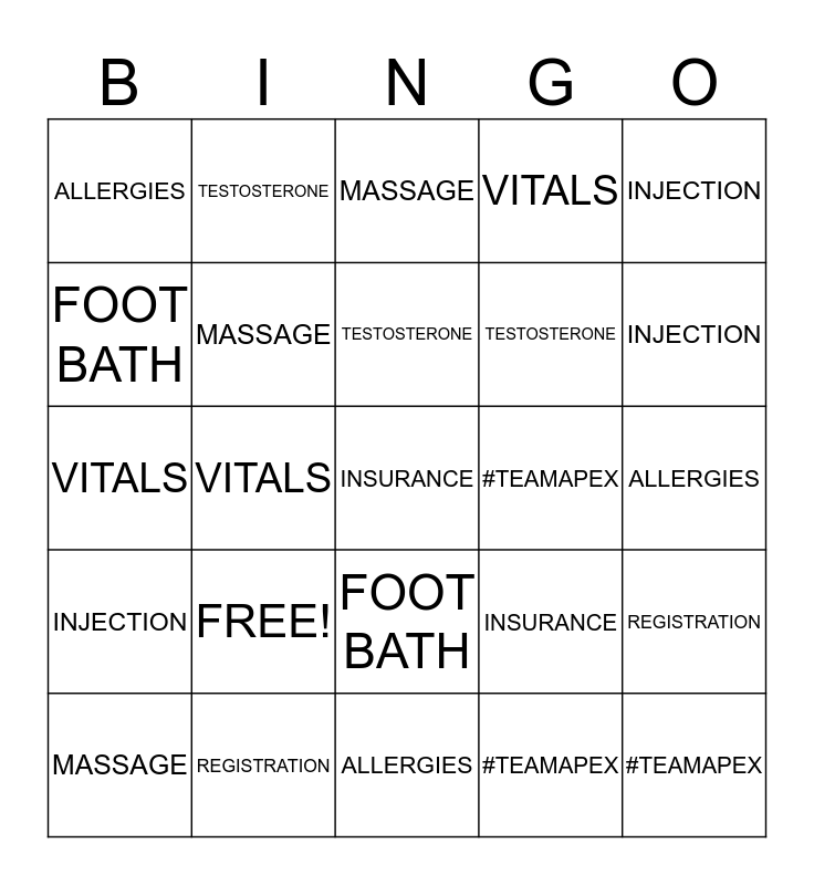 """FALL BACK INTO HEALTH""  Bingo Card"