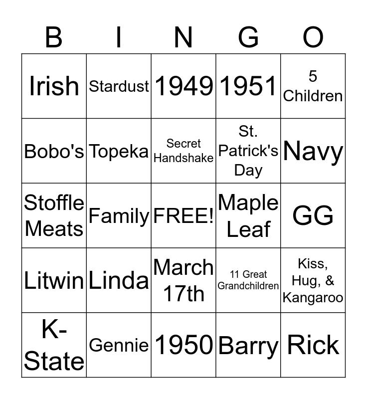 Magner Reunion  Bingo Card