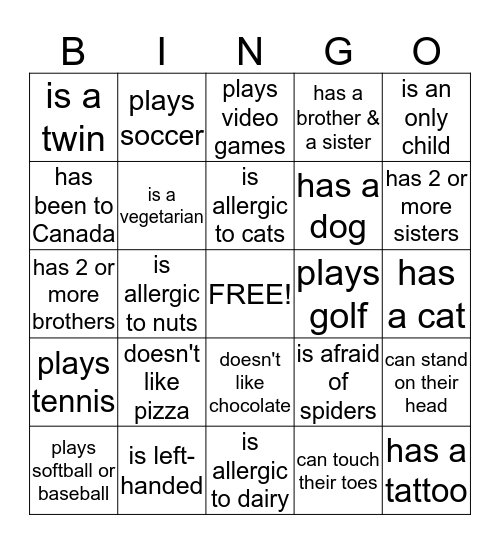 PHARMACY BINGO Card