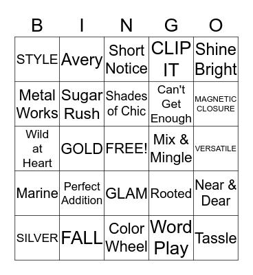 Jewelry Bingo! Bingo Card