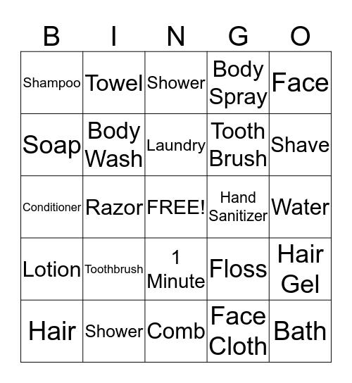 Personal Hygien  Bingo Card