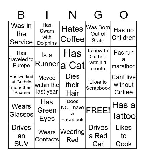 Service Excellence Bingo Card