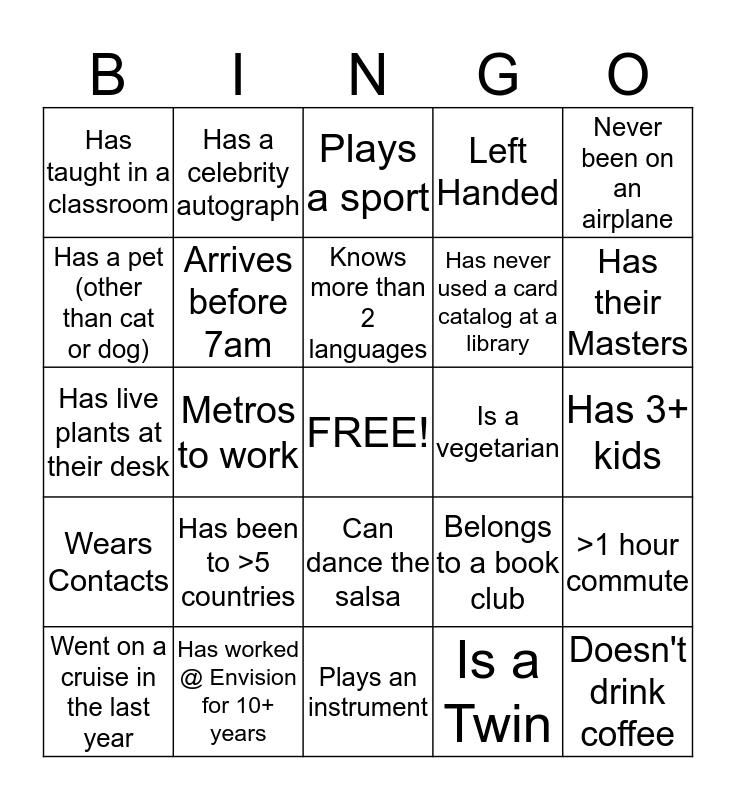 Envision Bingo Card