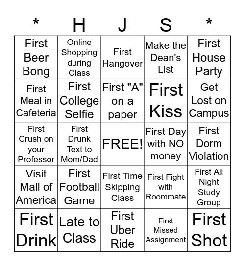 University of Minnesota College Bingo 2015 Bingo Card