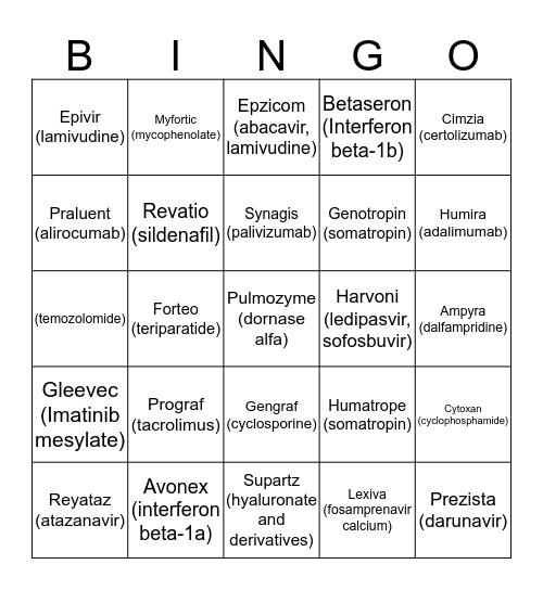 Briova Bingo Card