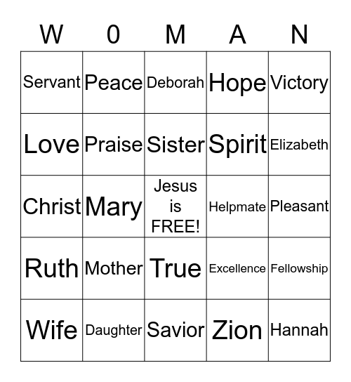 Retreat 2015 Bingo Card