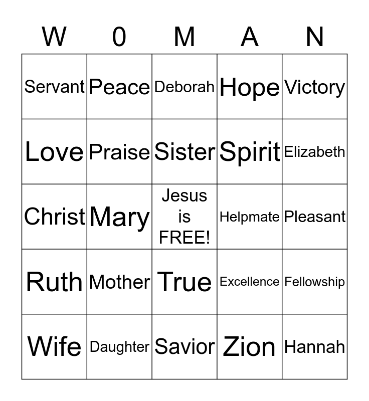 Retreat 2015 Bingo Card