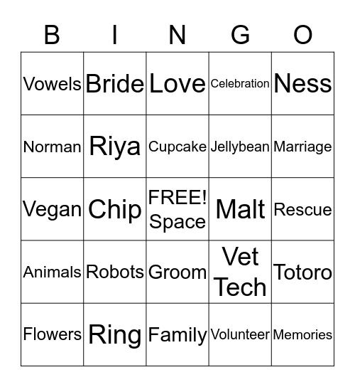 Happily Ever After Tabitha & Matt Bingo Card