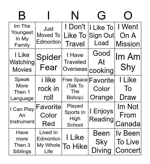 Rainbow Know-Ya Bingo Card