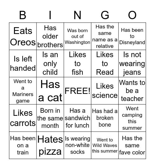 Super Leaders Team 13 Bingo Card