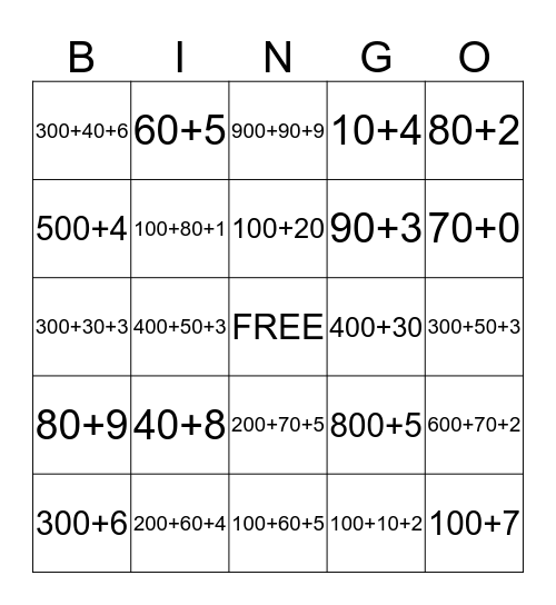 What is my number? Bingo Card
