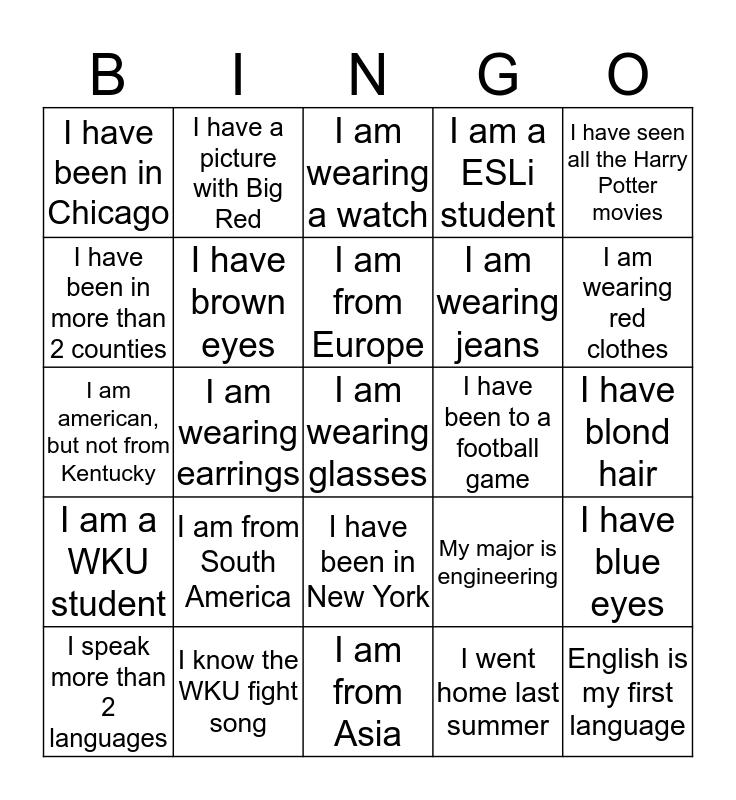 ESLi Bingo Card