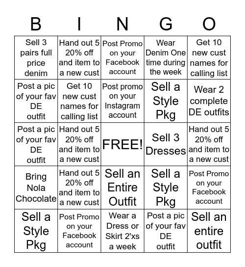 BINGO TO AMAZING GOAL!!! Bingo Card