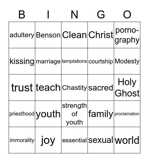 Chastity Bingo Card