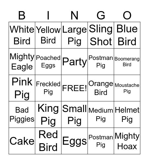 Birdday Party! Bingo Card