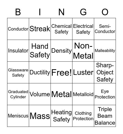 Unit 1 & 2 Bingo Card