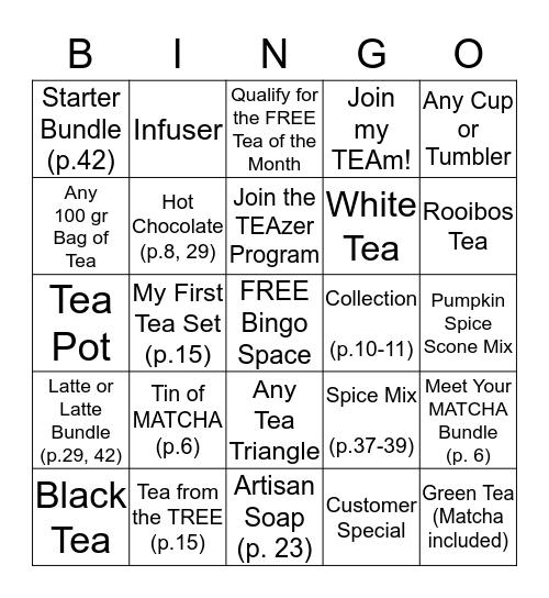 Par-TEA Time Bingo Card