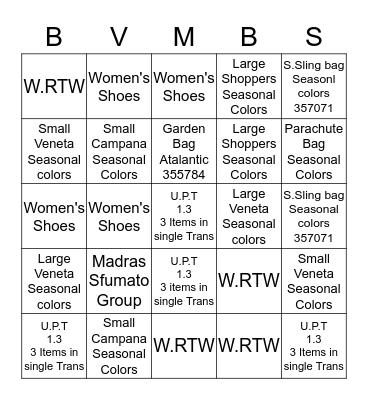 KENNY/CYNDI Bingo Card