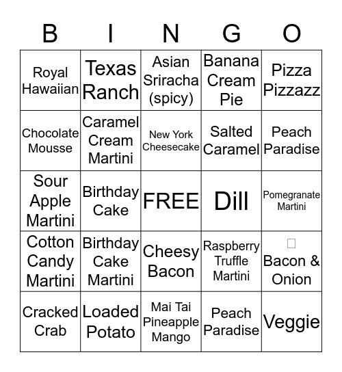 Party Time Mix Bingo Card