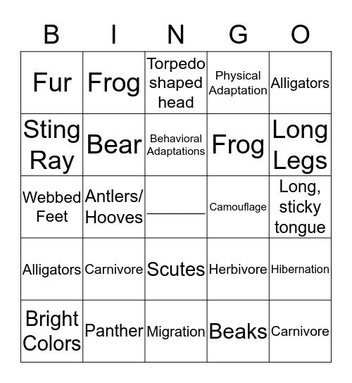 Campfire Bingo Card