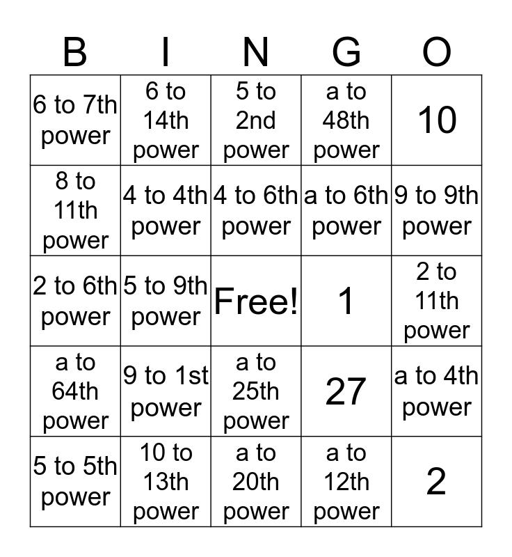 Hillyer's BINGO Card