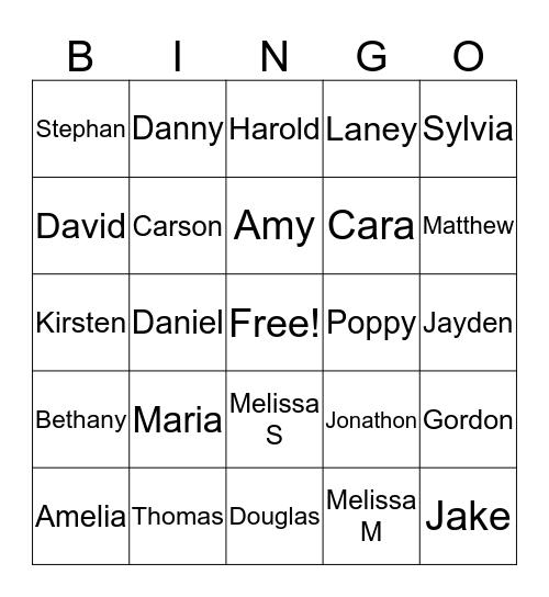 Oma's 80th Birthday Bingo Game Bingo Card