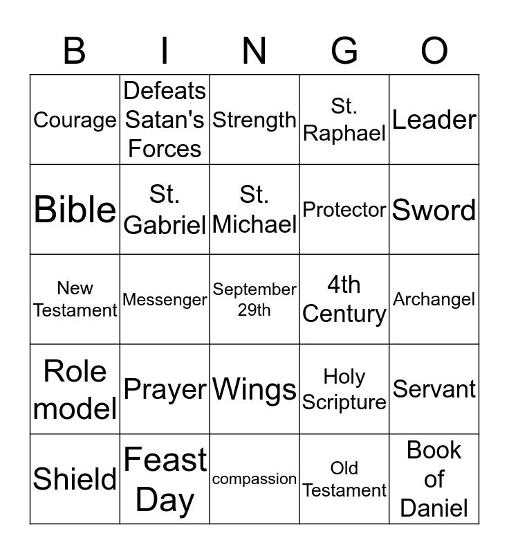 St. Michael the Archangel Bingo Card