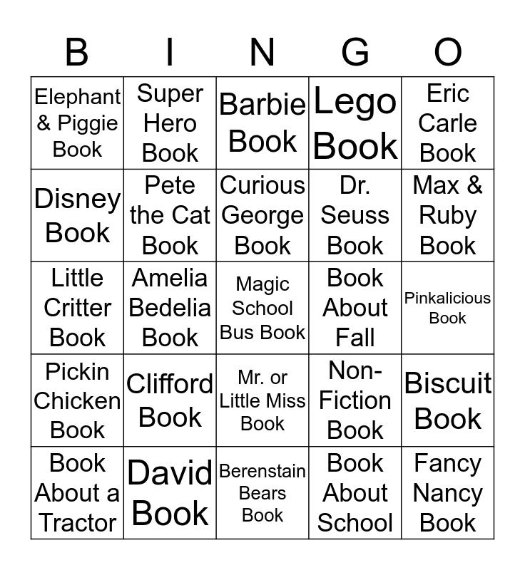 Picture Book Bingo Card