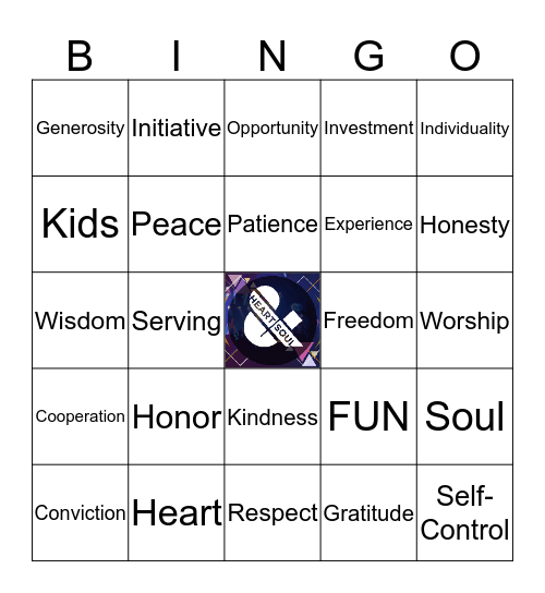 FK Heart + Soul Bingo Card