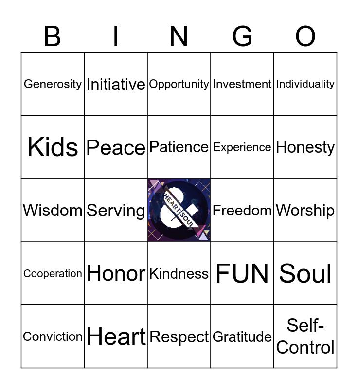 FK Heart + Soul Bingo Card
