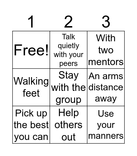 Learning the rules Bingo Card