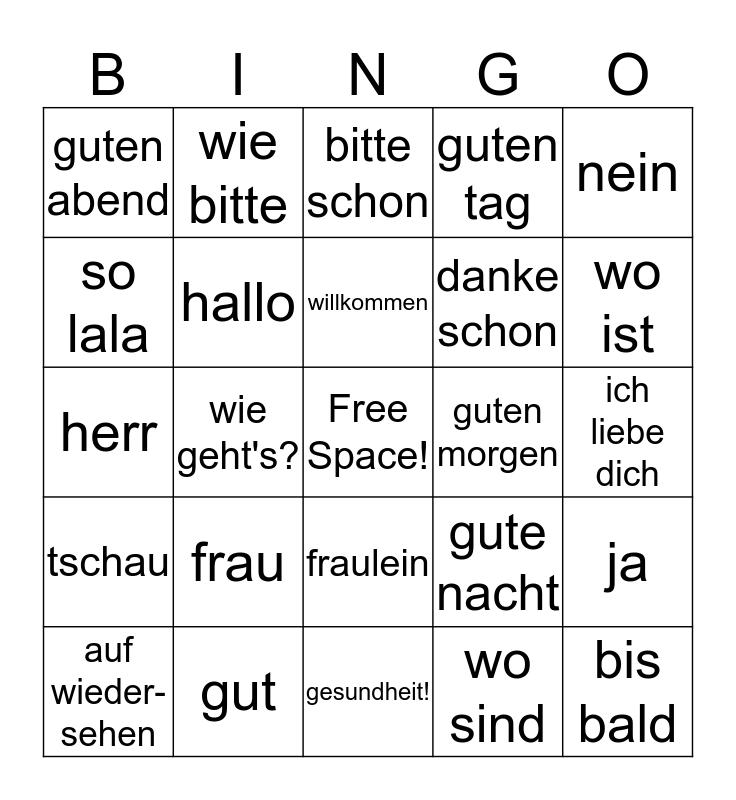 Das Bingo Card